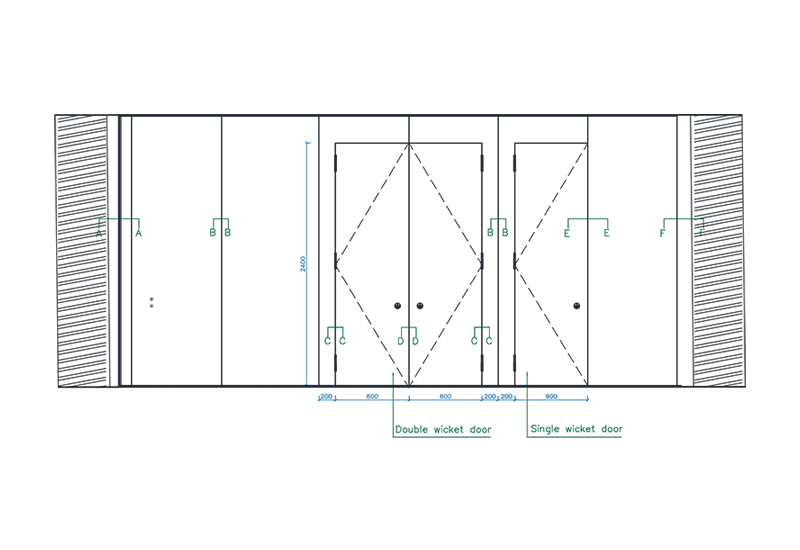sc-100-h-elevation-section-drawing