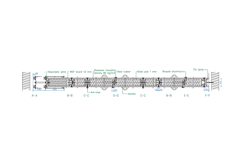 sc-100-h-horizontal-section-drawing